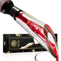 Wine Ziz Luxury Wine Aerator Pourer - Premium Aerating Pourer and Decanter Spout (Upgraded)