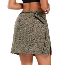 Ibeauti Women Active Skirt Stretchy Quick Dry Athletic Skort with Pocket for Golf Tennis