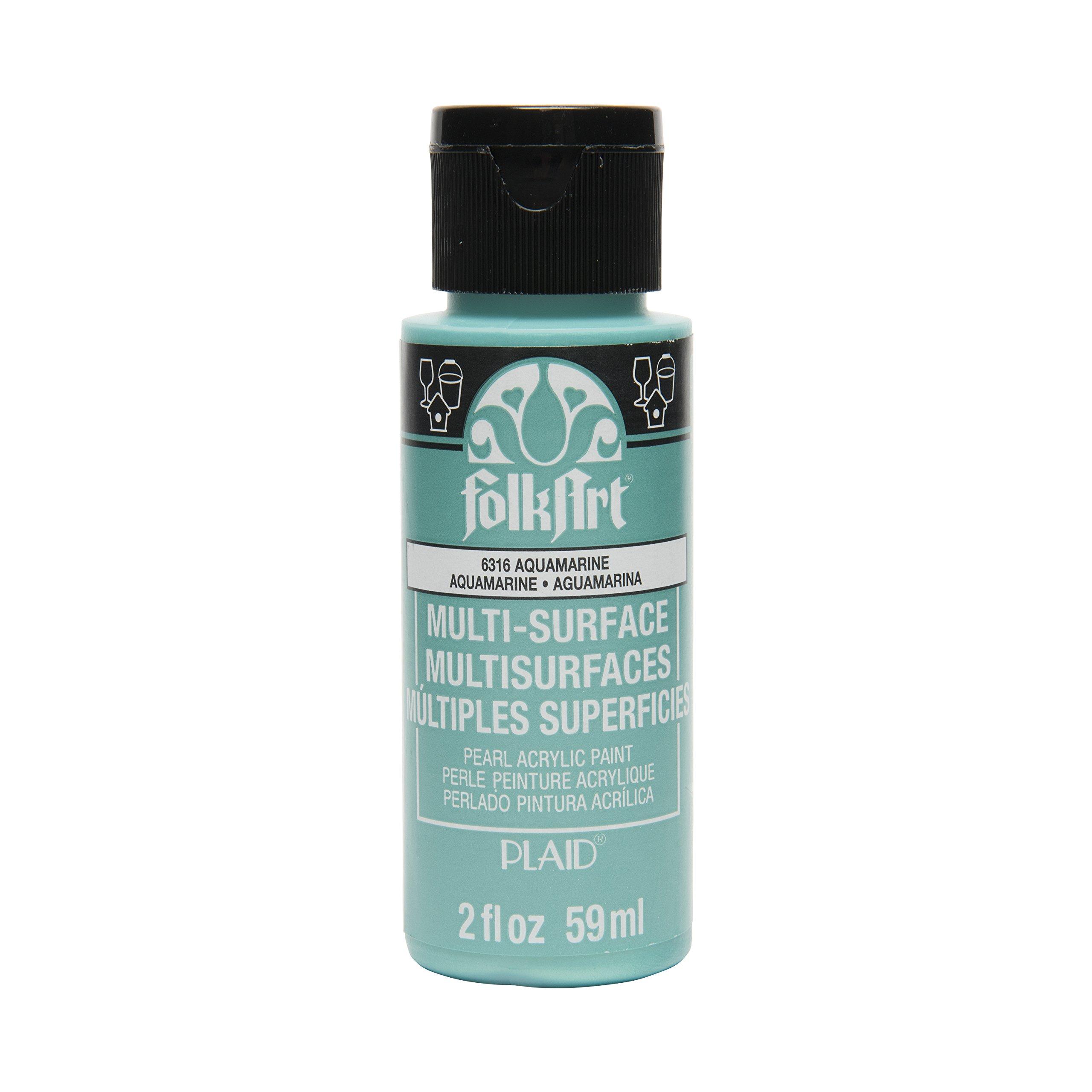 FolkArt Multi-Surface Paint in Assorted Colors (2 oz), , Pearl Aquamarine