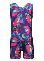 Gymnastics Leotards for Girls Dance Sparkly Colorful Peacock Butterfly Pink Ethnic Biketards