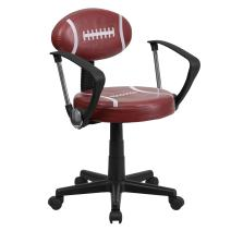 Flash Furniture Football Swivel Task Office Chair with Arms