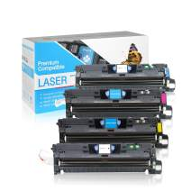SuppliesOutlet Compatible Toner Cartridge Replacement for HP 122A / Q3960A / Q3961A / Q3962A / Q3963A (C,M,Y,K,4 Pack)