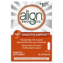 Align Probiotics Supplement, 56 Capsules, Gluten Free Digestive Enzymes for Adult Men and Women
