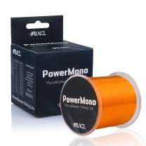 RUNCL PowerMono Fishing Line, Monofilament Fishing Line 300/500/1000Yds - Ultimate Strength, Shock Absorber, Suspend in Water, Knot Friendly - Mono Fishing Line 3-35LB, Low- & High-Vis Available