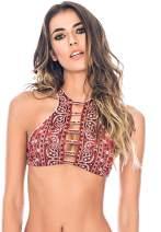 Agua Bendita Womens Bendito Huckleberries Bikini Top