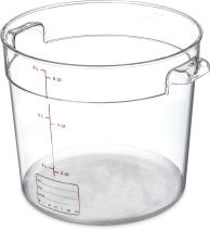 Carlisle 1076507 StorPlus Polycarbonate Round Container, 6 Quart Capacity, Clear (Case of 12)