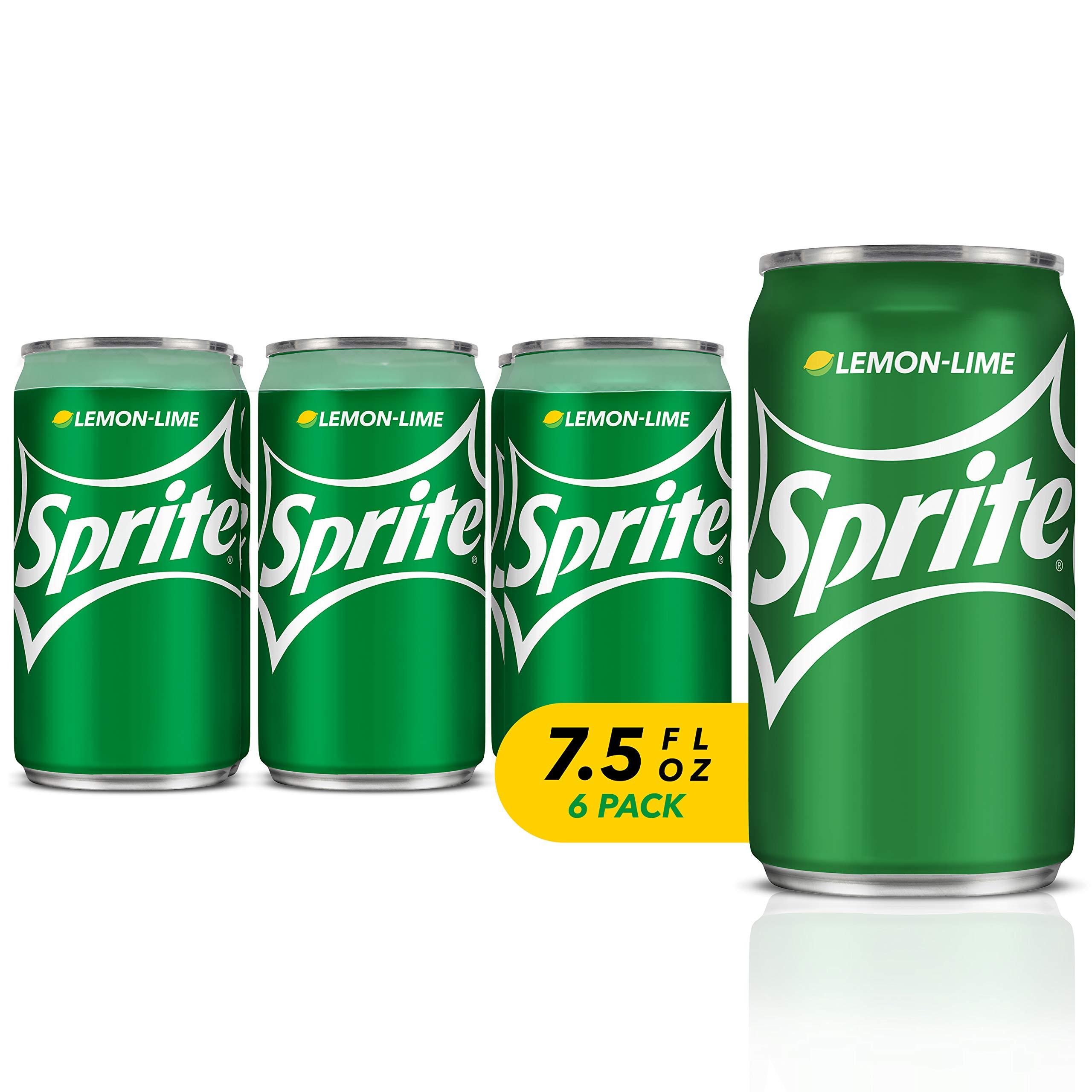 Sprite, Lemon Lime Soda, 7.5 Fl Oz (pack of 6)