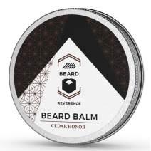 Cedarwood Beard Balm enhanced with Tea Tree & Argan & Jojoba Oils – All Natural Cedarwood Scent Beard Butter - Shape, Style, Soften & Condition Beards and Mustaches