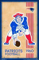 "Trends International NFL New England Patriots - Retro Logo, 22.375"" x 34"", Premium Unframed"