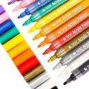 Acrylic Paint Pens for Rock Painting, Ceramic, Glass, Wood, Fabric, Canvas, Mugs, Pumpkins, DIY Craft Making Supplies, Scrapbooking Craft, Card Making, Acrylic Paint Marker Pens Set of 12 Colors