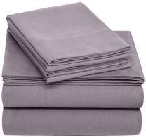 Pinzon Cotton Flannel Bed Sheet Set - Queen, Graphite
