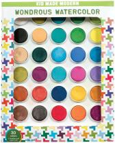 Kid Made Modern Wondrous Watercolor Paint Set - Kids Arts and Crafts Supplies (30 Colors)