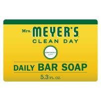 Mrs. Meyer's Clean Day Bar Soap, Use as Body Wash or Hand Soap, Honeysuckle Scent, 5.3 oz