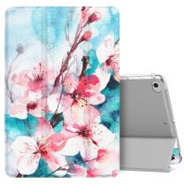 MoKo Case Fit New iPad Mini 5 2019 (5th Generation 7.9 inch), Slim Lightweight Smart Shell Stand Cover with Translucent Frosted Back Protector, with Auto Wake/Sleep - Peach Blossom