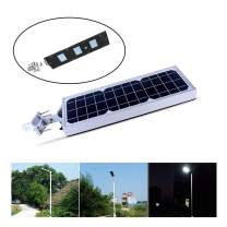 15W Solar Street Light, Solar Powered Outdoor Weatherproof Security Wireless Light Commercial Dusk-to-Dawn Lighting with Motion Sensor, for Home Garden Lawn Road Hallway Stadium Patio Courtyard Deck