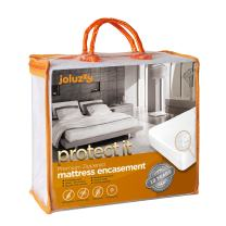 joluzzy Zippered Mattress Protector - 100% Bed Bug Proof/Waterproof Six-Sided Mattress Encasement - Cotton Terry, Breathable, Noiseless, Hypoallergenic, Vinyl-Free, Full Size