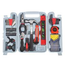 Stalwart 75-HT5003 Tool Kit - 132 Heat-Treated Pieces with Carrying Case - Essential Steel Hand Tool and Basic Repair Set for Apartments, Dorm, Homeowners