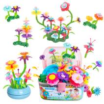 GAMZOO Flower Garden Building Toys Girls Birthday Gifts for 3 4 5 6 Year Old Toddlers STEM Arts and Crafts (150pcs)