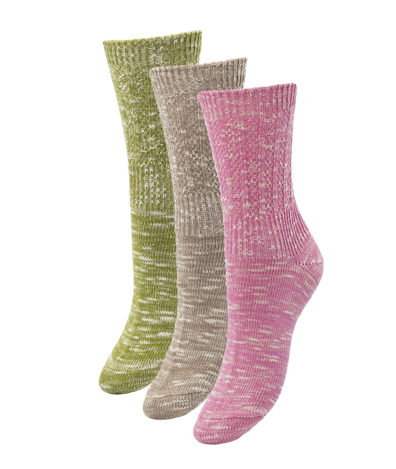 Women's Warm Winter Cotton Socks - Multi-Pack -Thick & Cozy Outdoor Trail Colorful Crew Sock Fits Women (Shoe Size 6-10)