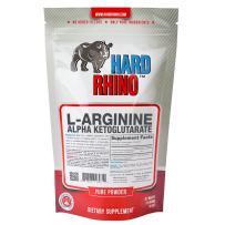 Hard Rhino L-Arginine Alpha Ketoglutarate (AAKG) Powder, 125 Grams (4.4 Oz), Unflavored, Lab-Tested, Scoop Included