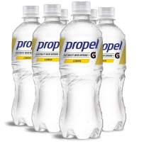 Propel Water Lemon Flavored Water With Electrolytes, Vitamins and No Sugar 16.9 Ounces (Pack of 6)
