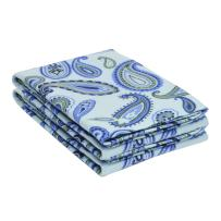 Superior Premium Cotton Flannel Pillowcases, All Season 100% Brushed Cotton Flannel Bedding, Pillowcase Set of 2 - Light Blue Paisley, King Pillowcases