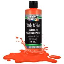 Pouring Masters Neon Bikini Orange Acrylic Ready to Pour Pouring Paint – Premium 8-Ounce Pre-Mixed Water-Based - for Canvas, Wood, Paper, Crafts, Tile, Rocks and More