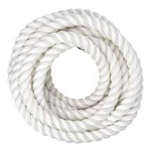 SGT KNOTS Twisted Nylon Rope 1.25 inch Multipurpose Utility Line - Rot, Alkali, Chemical, Weather Resistant - Crafts, DIY Projects, Towing, Dock Lines, Heavy Load Uses (50 ft - White)