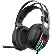 Mifanstech V-10 Gaming Headset for Xbox One Playstation 2 PS4 PC - 3.5mm Surround Sound, Noise Reduction Game Headphone with Microphone and Volume Control for Laptop, Tablet,Switch Games (Black)