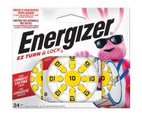 Energizer Hearing Aid Batteries Size 10, EZ Turn & Lock (24 Battery Count)