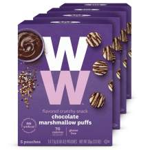 WW Chocolate Marshmallow Puffs - Gluten-free, 2 SmartPoints - 4 Boxes (20 Count Total) - Weight Watchers Reimagined