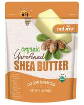 Organic Shea Butter Raw Unrefined Ivory 16 oz (1 LB), USDA Certified, From Ghana Africa, Great for DIY Skincare Products and Body Butter Moisturizer for Dry Skin, Eczema, and Hair Care, By Naturise