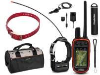 Garmin Alpha 100 TT15 Combo HuntBetter Bundle w/ TT15 Red Collar, PlayBetter Portable Charger & Tether | Garmin Field Bag, Satellite Subscription | Track & Train Dog GPS