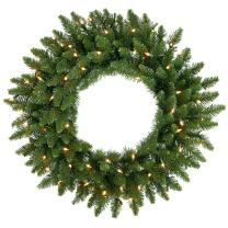 Vickerman Clear Dura-lit Lights Frosted Bellevue Alpine Artificial Christmas Wreath, 42-Inch