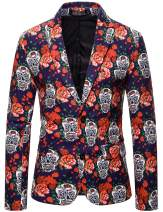 ief.G.S Christmas Suits Gifts for Men in Different Prints Novelty Clothes Costumes Xmas Suits Blazers