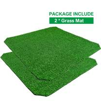 HUILE Artificial Grass for Dogs Pee Pads-Artificial Grass Bathroom Mat-Portable Potty Trainer for Indoor and Outdoor Use