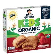 Quaker Kids Organic Multigrain Bars, Strawberry, 40 Bars, USDA Certified Organic