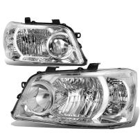 Replacement for Highlander XU20 1st Gen Pair of Chrome Housing Clear Corner Headlight Lamp Replacement Kit