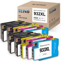 TEINO Compatible Ink Cartridge Replacement for HP 932XL 933XL 932 933 XL use with HP OfficeJet 6700 6600 6100 7510 7612 7610 7110 (4 Black, 2 Cyan, 2 Magenta, 2 Yellow, 10-Pack)