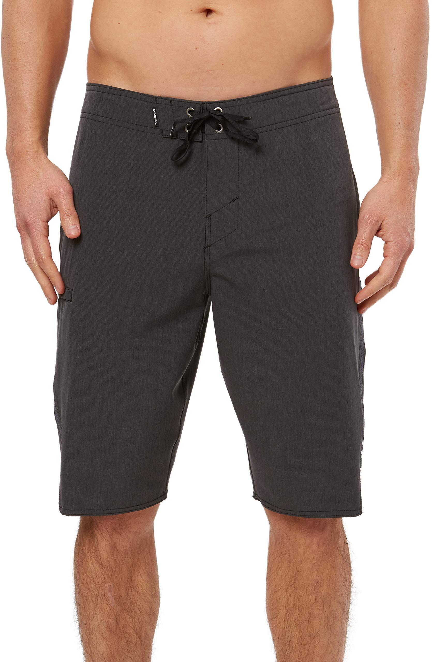 O'NEILL Men's Water Resistant Superfreak Swim Boardshorts, 21 Inch Outseam | Long-Length Swimsuit |