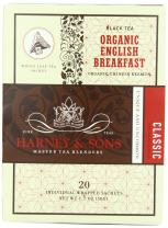 Harney and Sons Organic Tea Bags, English Breakfast, Net Wt. 1.7 Oz, 20 Count