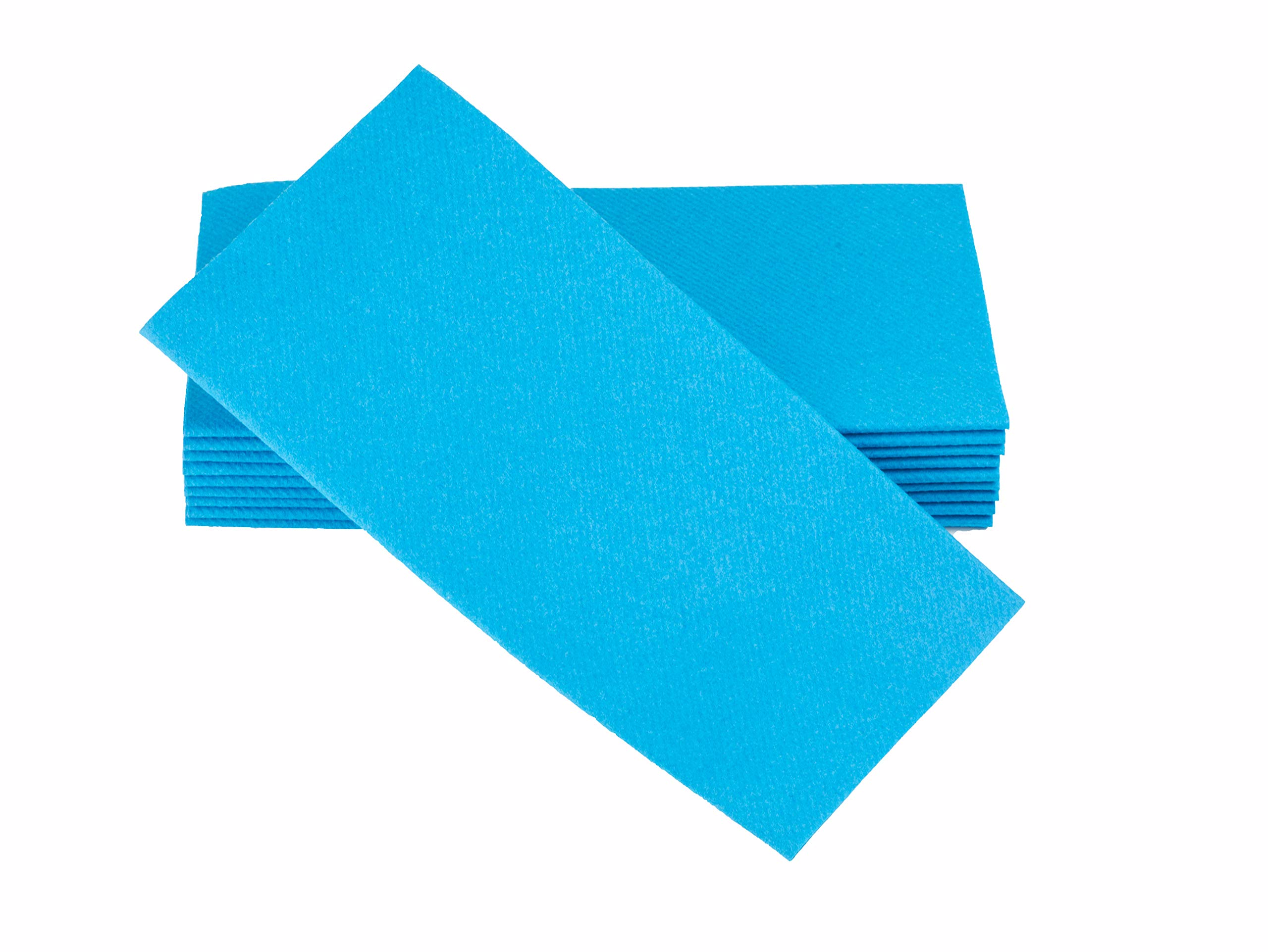 """Simulinen Colored Napkins - Decorative Cloth Like & Disposable, Dinner Napkins - Aqua Blue - Soft, Absorbent & Durable - 16""""x16"""" - Great for Any Occasion! - Box of 50"""