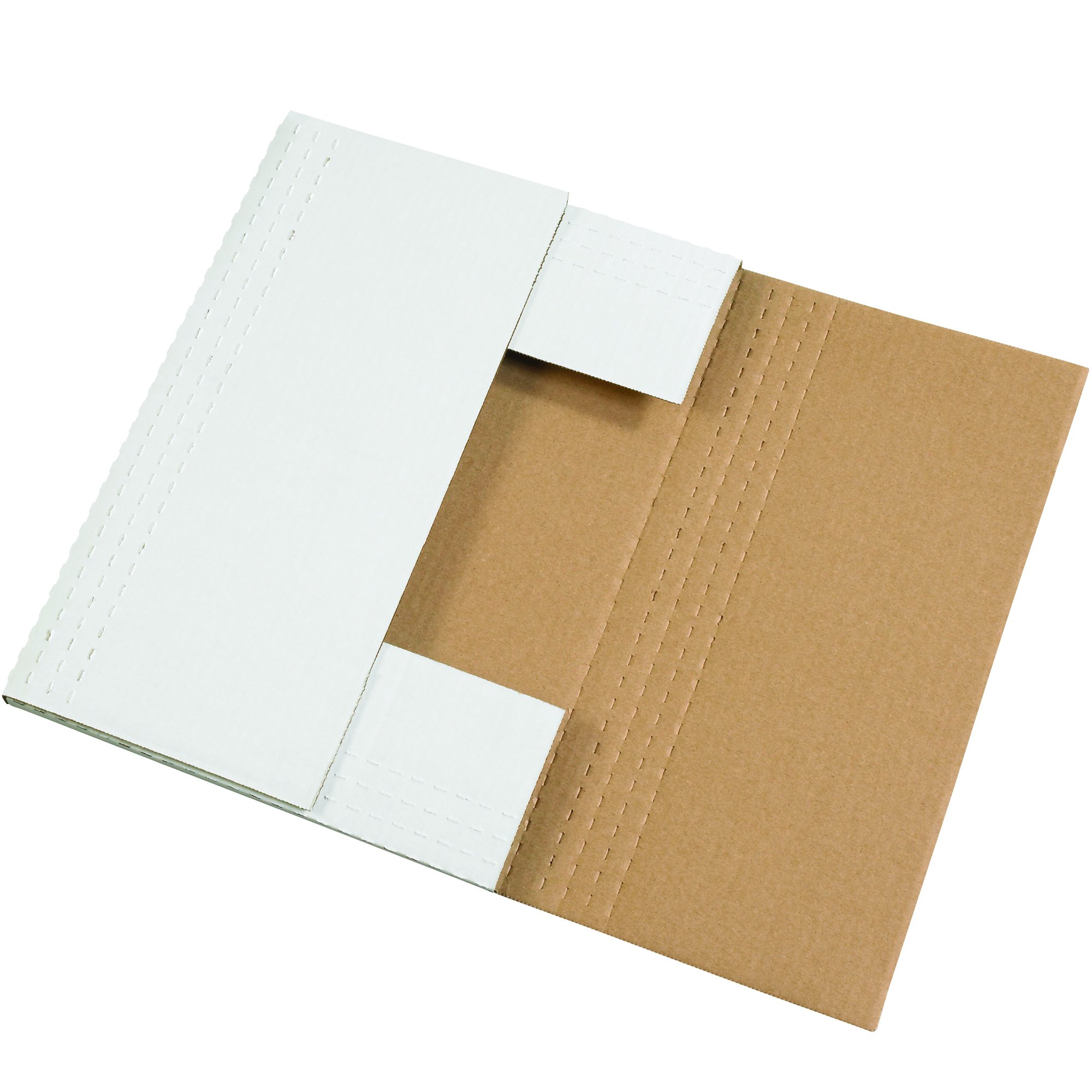 """Tape Logic TLMIBMROS Easy-Fold Mailers, 15"""" x 11 1/8"""" x 2"""", White (Pack of 50)"""