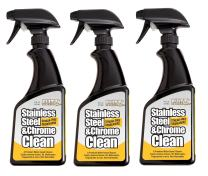 Flitz Stainless Steel Cleaner and Polish For Appliances, Streak Free Shine for Refrigerators, Dishwashers, Sinks, BBQ Grills, Ovens and More, 16 oz, 3 Pack