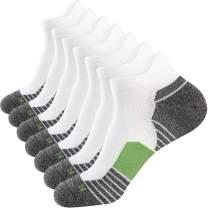 WANDER Men's Athletic Running Socks 7 Pairs Thick Cushion Ankle Socks for Men Sport Low Cut Socks 6-9/10-12