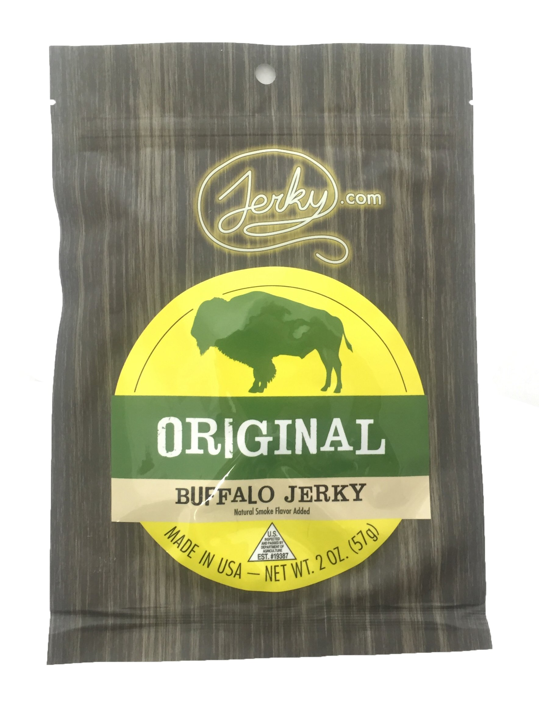 Jerky.com's Original Buffalo Jerky - The Best Wild Game Bison Jerky on the Market - 100% Whole Muscle Buffalo - No Added Preservatives, No Added Nitrates and No Added MSG - 1.75 oz.