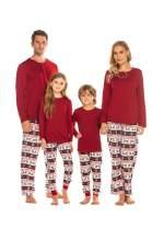 Ekouaer Matching Family Christmas Pajamas Set Boys Girls Womens Mens Sleepwear Holiday PJ Sets Halloween Pajamas