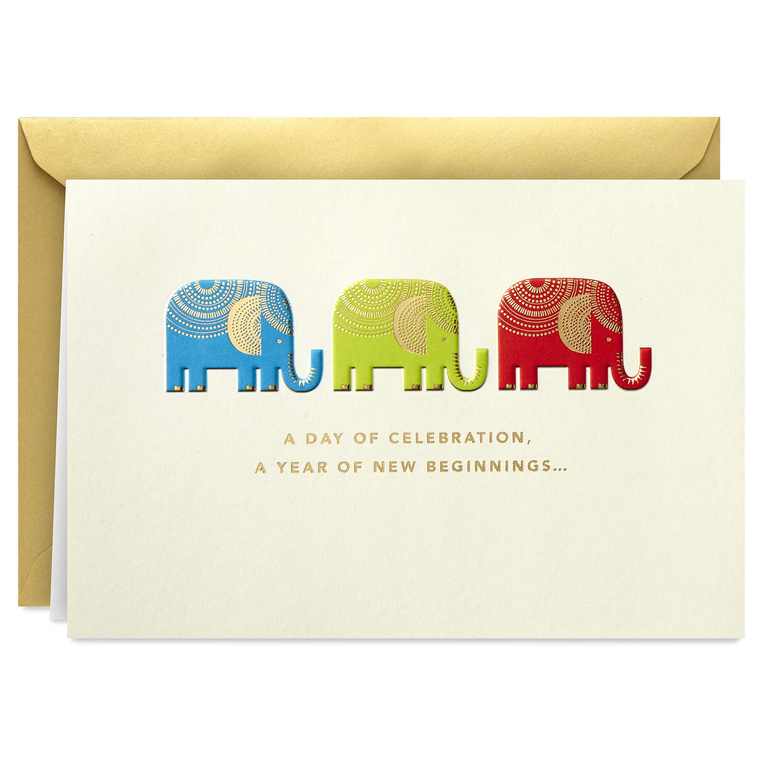 Hallmark Golden Thread Birthday Card (Elephants, Year of New Beginnings)