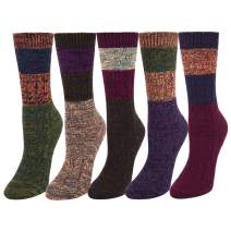 Zmart Women's Girls Colorful Cotton Knit Vintage Soft Boot Crew Sock Gift