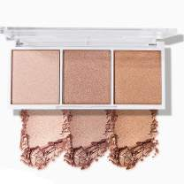 SACE LADY Powder Contour Highlighter Kit Step-by-step for Bronzer Cheekbones Makeup Palette Collection (Highlighter-03)